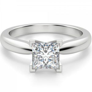 Tiffany-Style Solitaire Princess Cut Ring -Engage